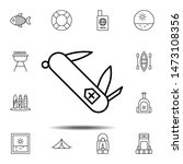 swiss knife icon. simple thin...