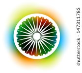 indian flag wheel on colorful...   Shutterstock .eps vector #147311783
