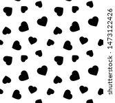 heart background seamless. love ... | Shutterstock .eps vector #1473122426