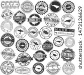 charlotte north carolina stamp. ... | Shutterstock .eps vector #1473126629