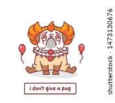 cartoon pug dog character in... | Shutterstock .eps vector #1473130676