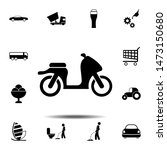 motorcycle icon. simple glyph ...