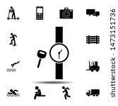 key watch icon. simple glyph ...