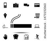 cigarette smoking icon. simple...