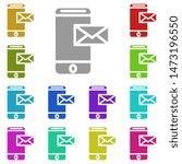 mobile message multi color icon....