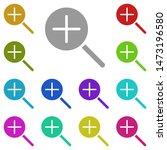 zoom in multi color icon....