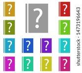 faq book  help multi color icon....