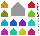 home button multi color icon....