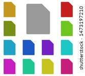 blank sheet multi color icon....