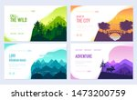 nature vector brochure cards...
