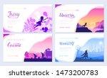 set of diverse fantasy worlds.... | Shutterstock .eps vector #1473200783