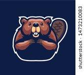 Beaver Mascot Logo For Sport...
