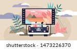movies vector illustration.... | Shutterstock .eps vector #1473226370