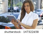 hands of a casual woman holding ... | Shutterstock . vector #147322658