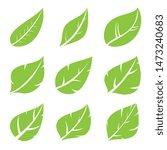 leaves icon set. leaf vector... | Shutterstock .eps vector #1473240683