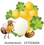 illustration of a bee beside an ... | Shutterstock .eps vector #147326606