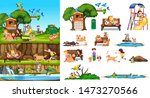 set of isolated animals and...   Shutterstock .eps vector #1473270566