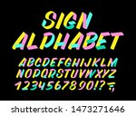 hand drawn colorful typeface on ... | Shutterstock .eps vector #1473271646