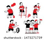 various indonesian traditional... | Shutterstock .eps vector #1473271739