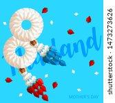 paper thai jasmine garland set... | Shutterstock .eps vector #1473273626