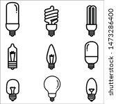 set light bulb vector...   Shutterstock .eps vector #1473286400