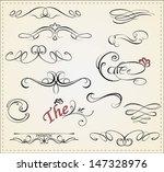 vector set  calligraphic design ... | Shutterstock .eps vector #147328976
