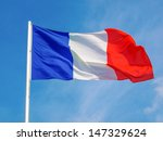 Flag Of France Over A Blue Sky