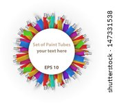 set of paint tubes background... | Shutterstock . vector #147331538