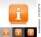 information icon. orange color...