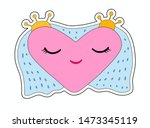 heart wings and a crown in the... | Shutterstock .eps vector #1473345119