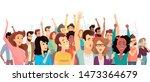 crowd of happy people poster... | Shutterstock . vector #1473364679