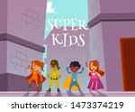 Children Superheroes Team...