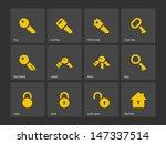 key icons on gray background....