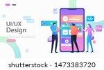 ux   ui design vector...