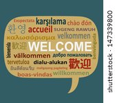 text welcome in many language... | Shutterstock .eps vector #147339800