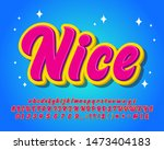 colorful fancy alphabet set for ... | Shutterstock .eps vector #1473404183