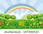illustration of the field and... | Shutterstock .eps vector #147340523