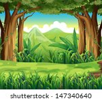 illustration of the green forest | Shutterstock .eps vector #147340640