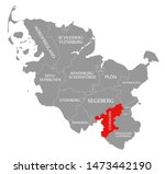 stormarn red highlighted in map ... | Shutterstock . vector #1473442190