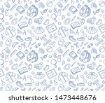 back to school doodle seamless... | Shutterstock .eps vector #1473448676