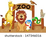 illustration of isolated zoo... | Shutterstock .eps vector #147346016