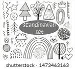 doodle set of vector elements... | Shutterstock .eps vector #1473463163