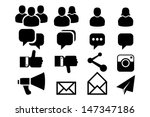 blog and social media icons | Shutterstock .eps vector #147347186