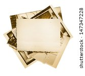 vintage photo stack isolated on ... | Shutterstock . vector #147347228