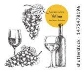 set of wine illustrations for... | Shutterstock .eps vector #1473478196