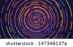 colorful neon circle dashed...   Shutterstock .eps vector #1473481376