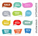 modern colorful sale stickers... | Shutterstock . vector #1473496553
