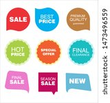 modern colorful sale stickers... | Shutterstock . vector #1473496559