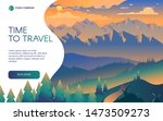 travel agency flat vector...