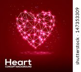 creative heart background with... | Shutterstock .eps vector #147353309